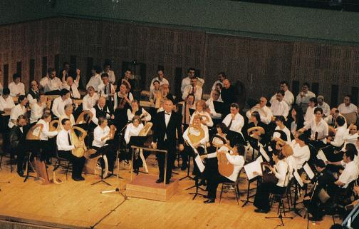 John conducting the Celtic Lyre Orchestra