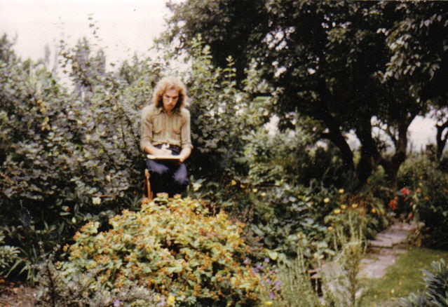 John sketching in 1972