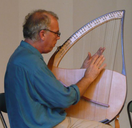 John playing his new lyre